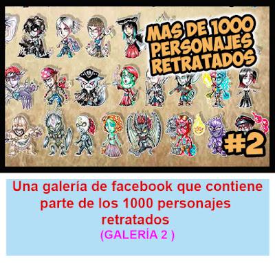 Galeria 2 1000 personajes en Facebook