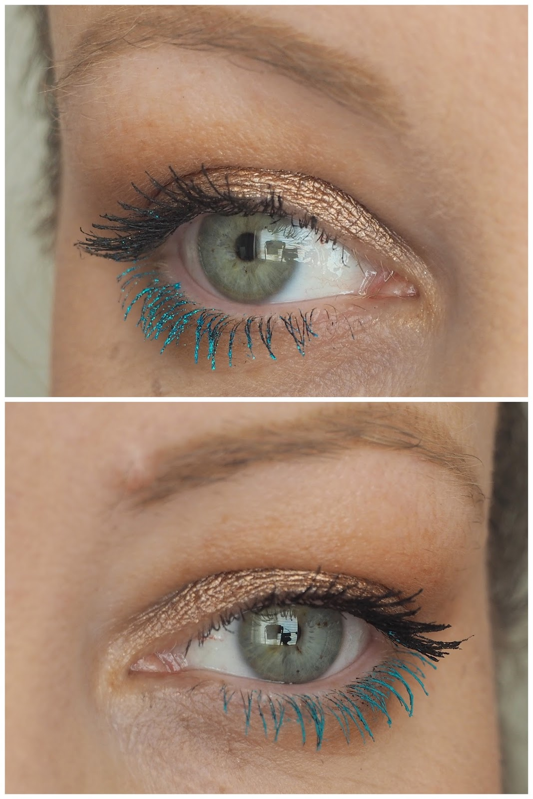 f1874e87538 In the photos below, I applied Deep End over black mascara, just for a bit  more oomph. Can you cope? The answer is no.
