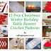 12 Free Christmas Winter Holiday Table Runner Crochet Patterns
