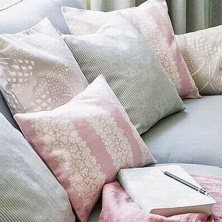 pastel pink and mint cushions