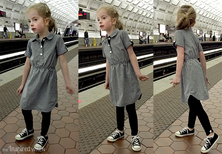 Love the shirt dress with leggings and Converse. Adorable. | The Inspired Wren