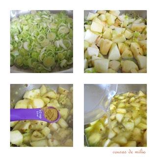 Vichyssoise de manzanas