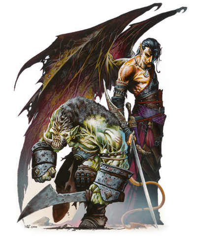 My Realms Stat Block Tanarukk Medium fiend (demon, orc), volo's guide, chaotic evil. my realms blogger