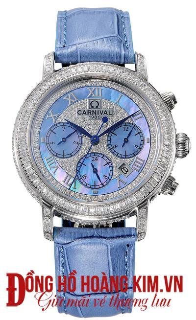 Đồng hồ nữ đính đá đẹp tại quảng ninh carnival- dòng đồng hồ cơ cao cấp