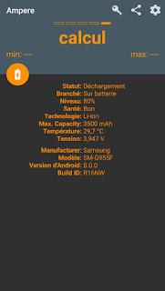 - استخدم Ampere لتحديد المشكلة - لونه برتقالي