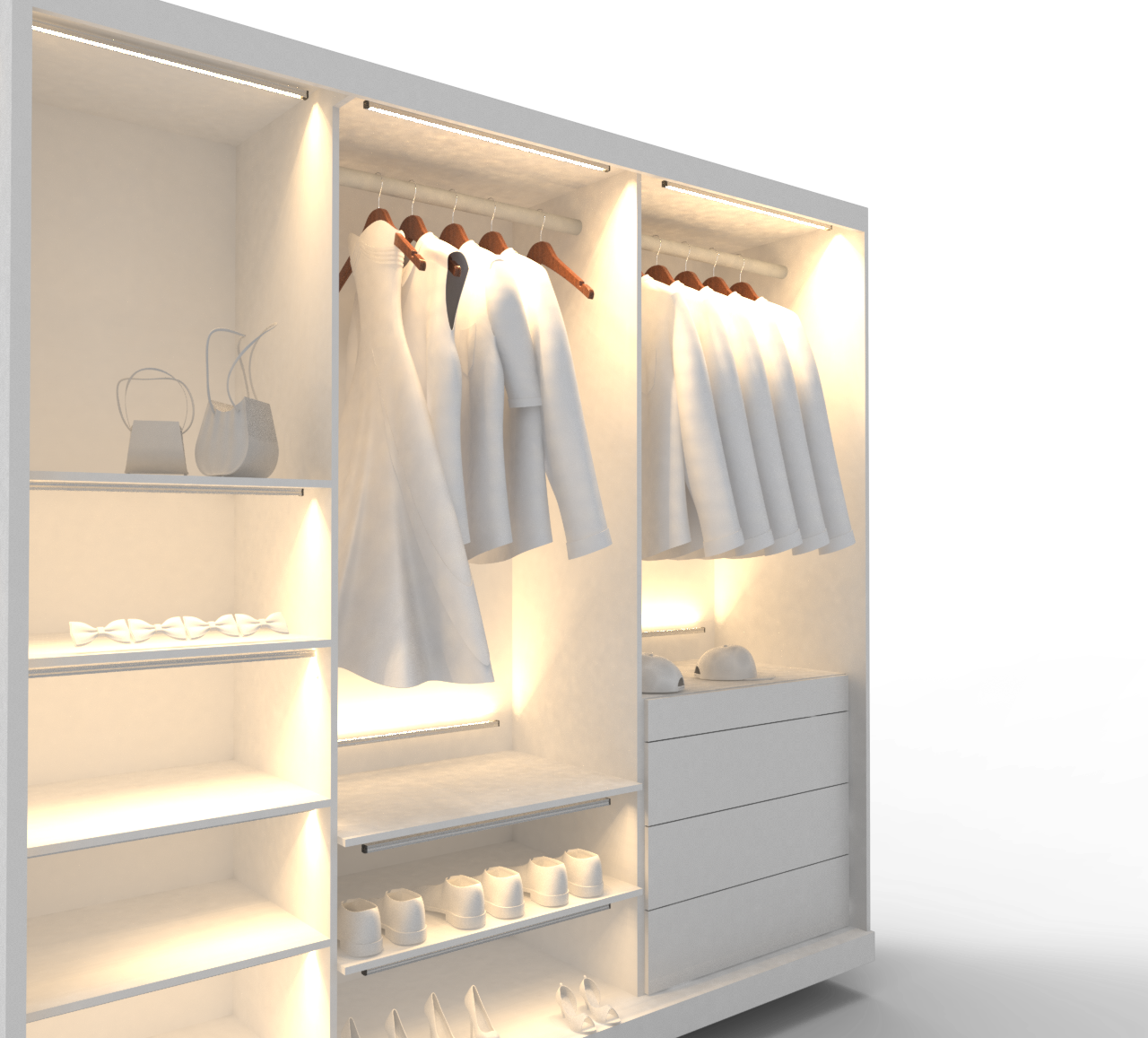 Lighting Ideas For Your Closet: Design Vignettes