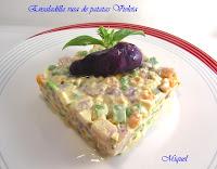 Ensaladilla rusa con patatas violeta