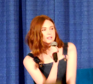 Karen Gillan answering questions at Shore Leave 38, Hunt Valley, MD.