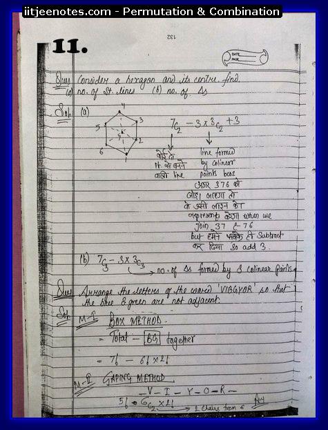 IITJEE Notes on Permutation & Combination12