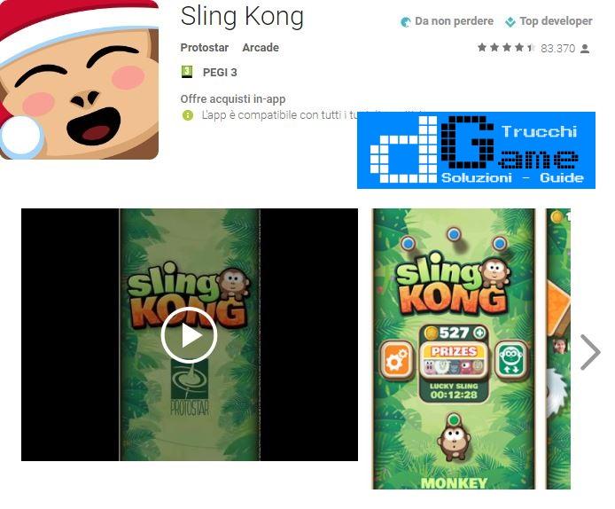 Trucchi Sling Kong Mod Apk Android v1.9.8