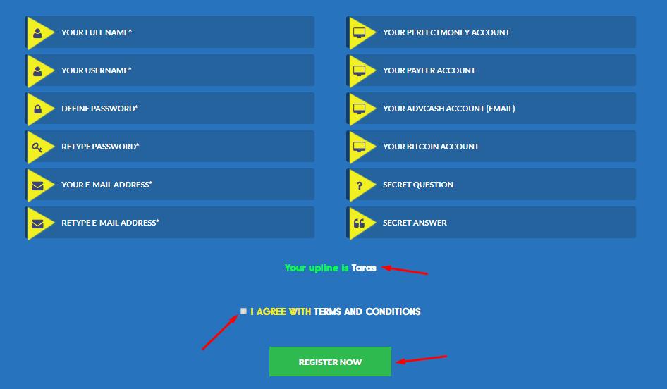 Регистрация в GreenForex 2