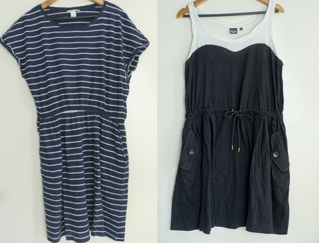 favorite comfy dresses lounge homebody h&m Uniqlo navy stripe black white
