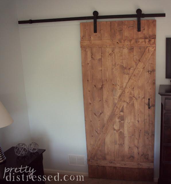 Building Sliding Barn Door Diy: Pretty Distressed: DIY Distressed Sliding Barn Door