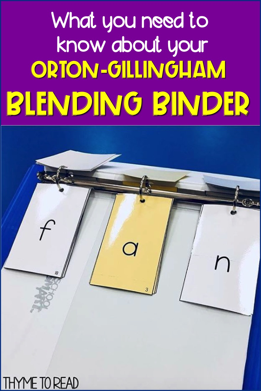 Things you need to know about your Orton-Gillingham Phoneme Grapheme Cards. Learn why keeping your cards in a Blending Binder will make your three part drill a breeze to differentiate for your small reading groups