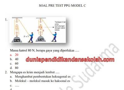 Prediksi Soal Model A-B-C dan Pedagogik Pretest PPG/ PPGJ Tahap 2 Tahun 2018