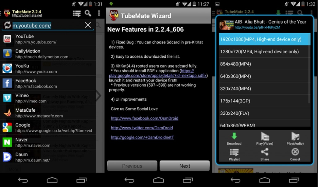 Descargar TUBEMATE 3.1.5 Android