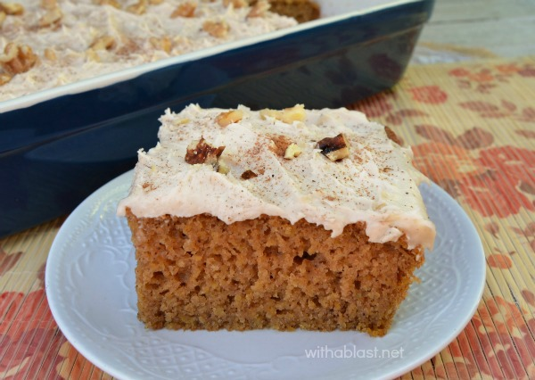 Pumpkin Cake Bars are moist, soft and delicious to serve especially as a Fall dessert, tea time treats or anytime snacking