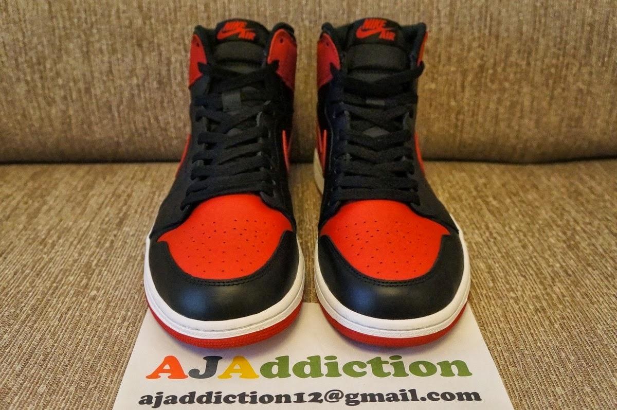 Air Jordan 1 Retro High OG - Black Varsity Red ~ ~ EffortlesslyFLY ed4fc4e5a