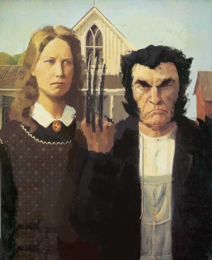 Resultado de imagem para Tela do casal de agricultores americanos