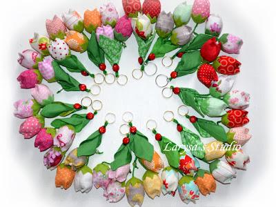 цветочные брелоки