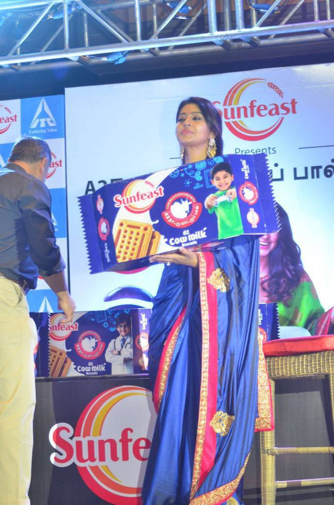 Sneha Prasanna At Sunfeast Biscuits Launch Event Stills