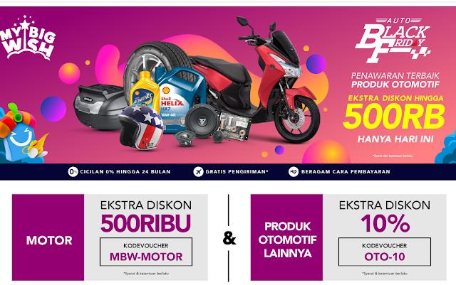 Auto Black Friday Diskon Hingga 500RIBU Promo Aksesoris Motor, Ban, Helm & Jaket Terbaru 2019