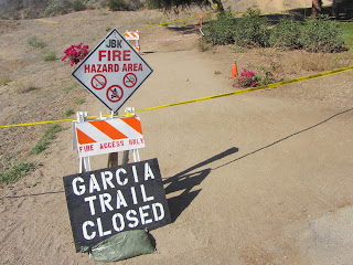 Garcia Trail closed