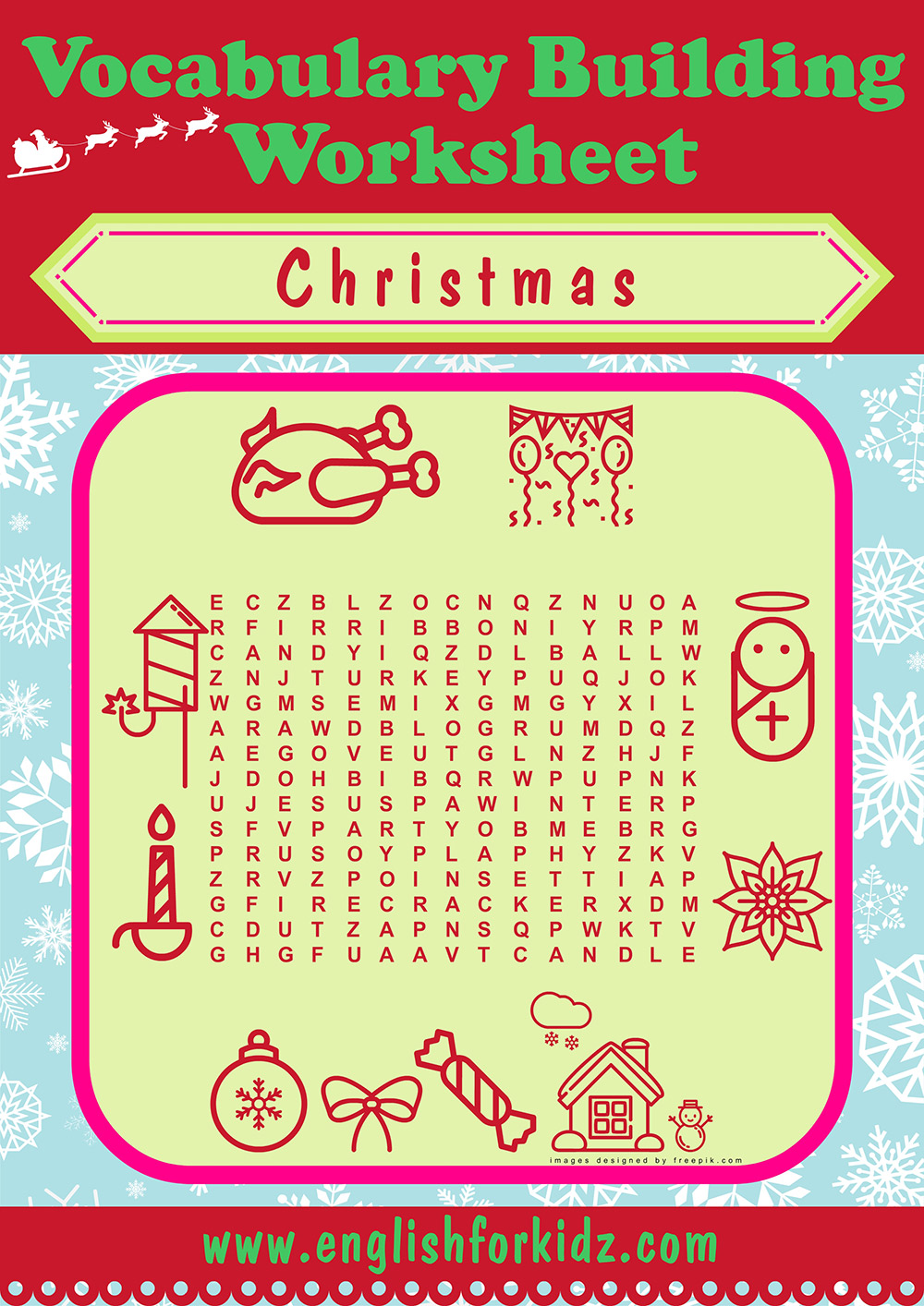 image relating to Christmas Word Search Puzzles Printable named Xmas Phrase Glance Worksheets