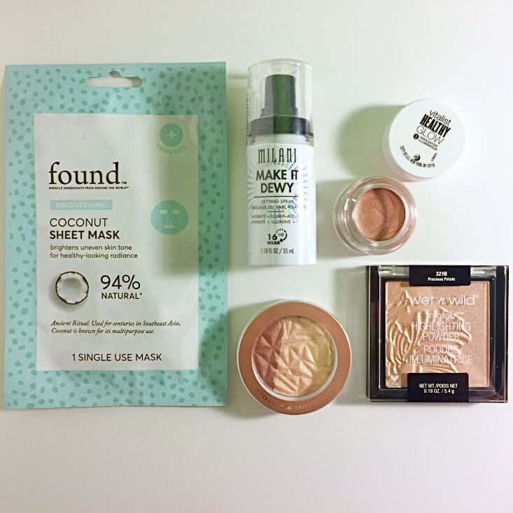 Walmart Beauty Favorites Box Glow For It products