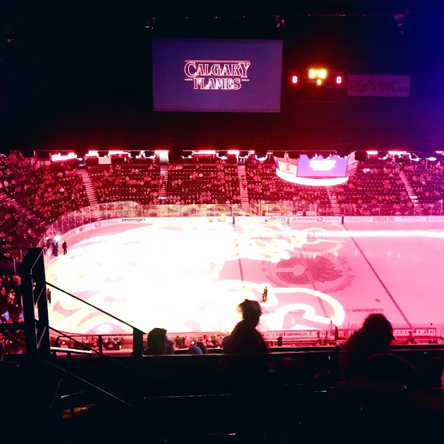Washington Capitals at the Scotiabank Saddledome