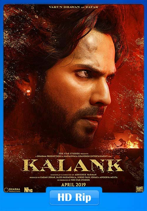 Kalank 2019 Hindi HDRip ESub x264   480p 300MB   100MB HEVC Poster