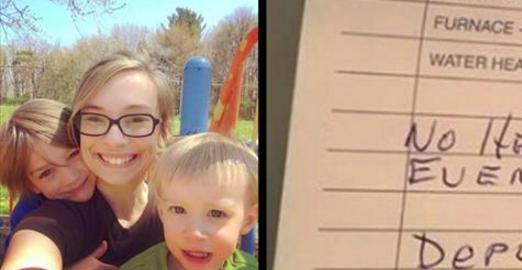 Une mère de deux enfants laisse entrer un ouvrier chez elle. Elle est choquée de ce qu'elle lit sur la facture.