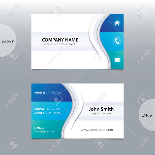 Vector Abstract Business Cards Stock Vector