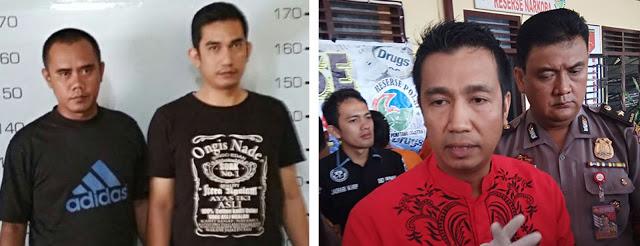 Adik Walikota Siantar Ardiansyah (kiri) dan Walikota Siantar (kanan)