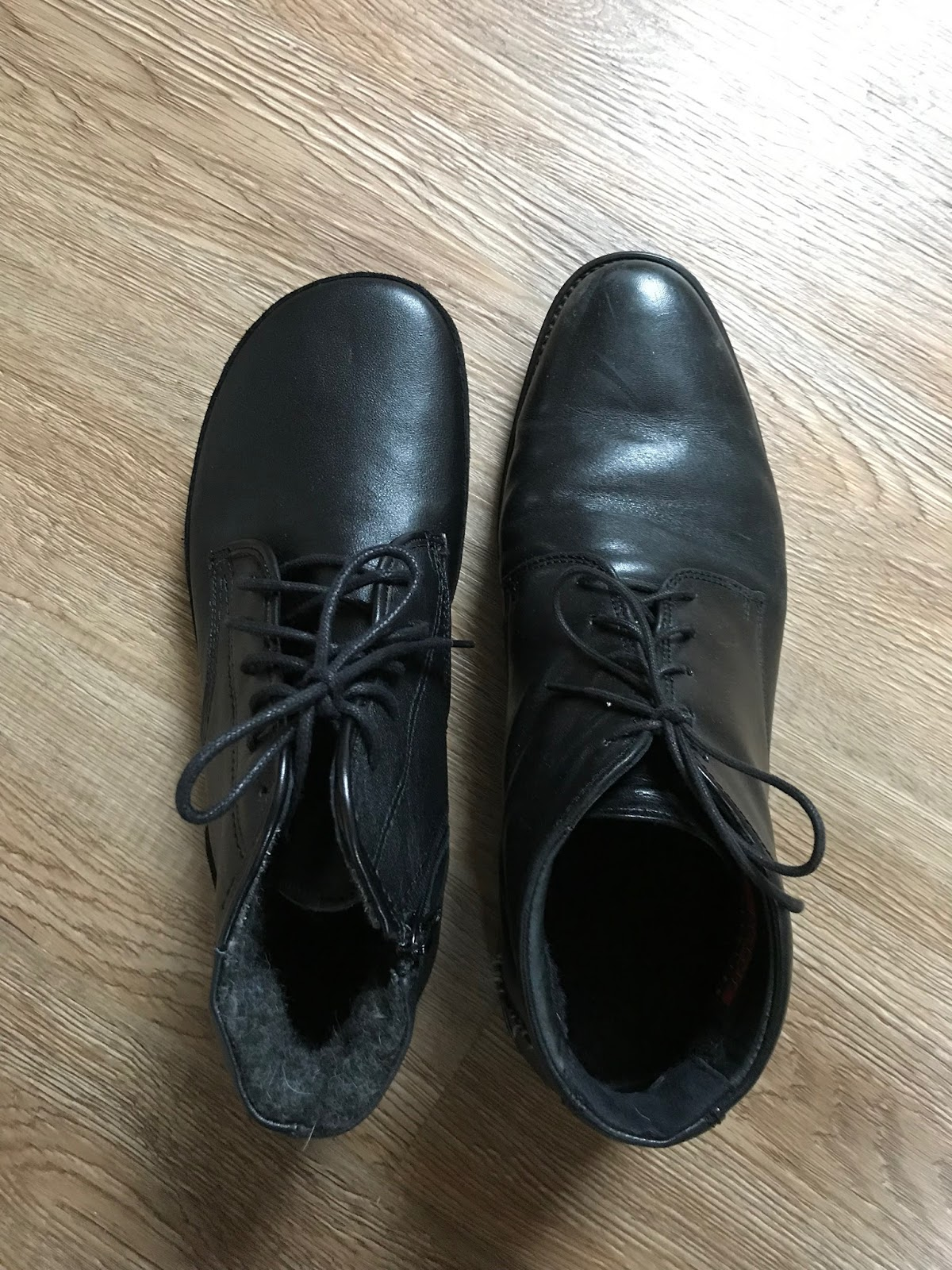Zimní obutí mého muže letos a vloni  TadeEvo Winter vel. 42 (VD 28 cm) vs.
