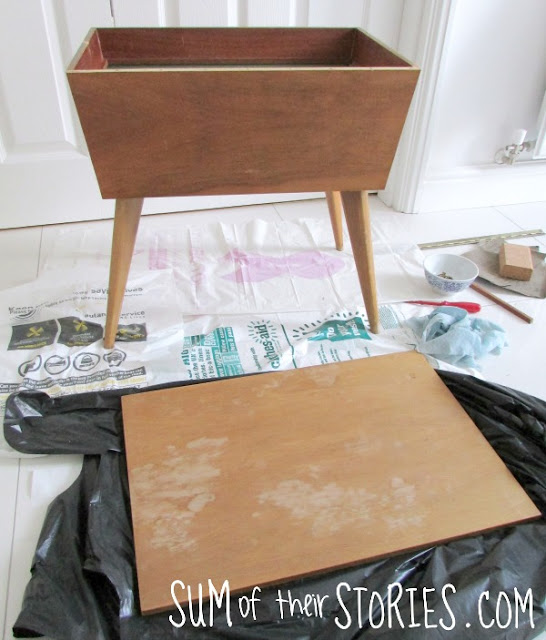 sewing box before its makeover