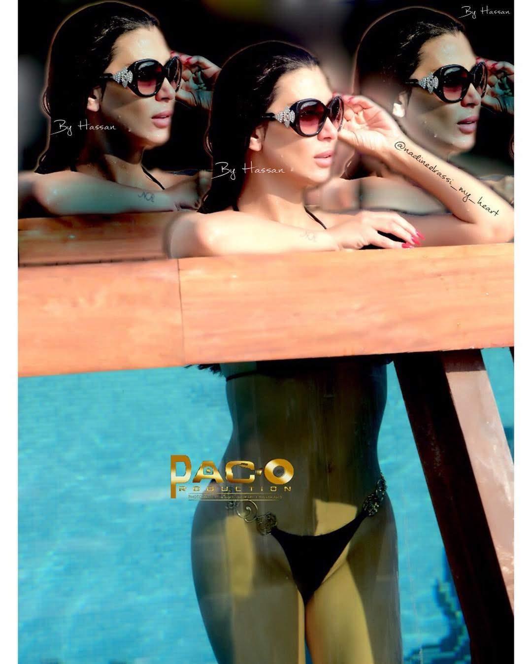 """بالفيديو ... الممثلة اللبنانية """" نادين الراسي """" بالبكيني الفاضح"""
