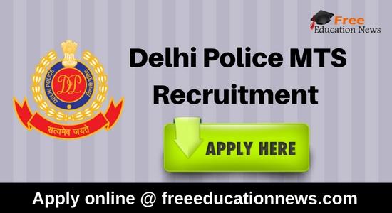 Delhi Police MTS Recruitment