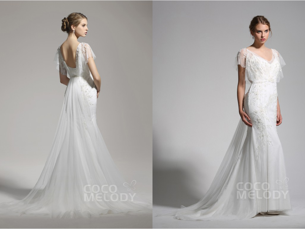 Backless wedding dress from cocomelody