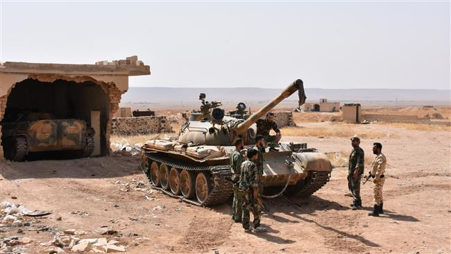 Syrian forces regained control of an oilfield from Daesh in Raqqah