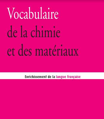 Vocabulaire de la chimie et des matériaux PDF
