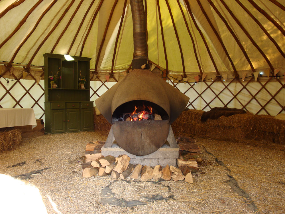 Picture of River Cottage Yurt with Log Burning Fire