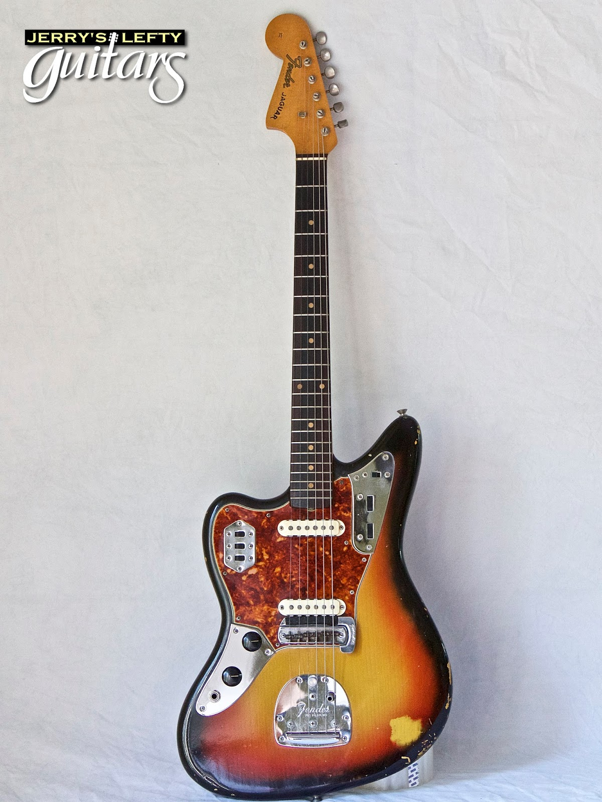 jerry 39 s lefty guitars newest guitar arrivals updated weekly 1964 fender jaguar sunburst left. Black Bedroom Furniture Sets. Home Design Ideas