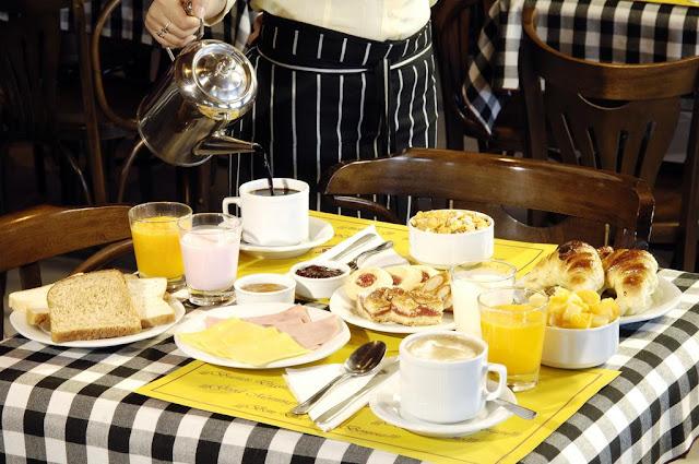Café da manhã do Hotel Quijote em El Calafate