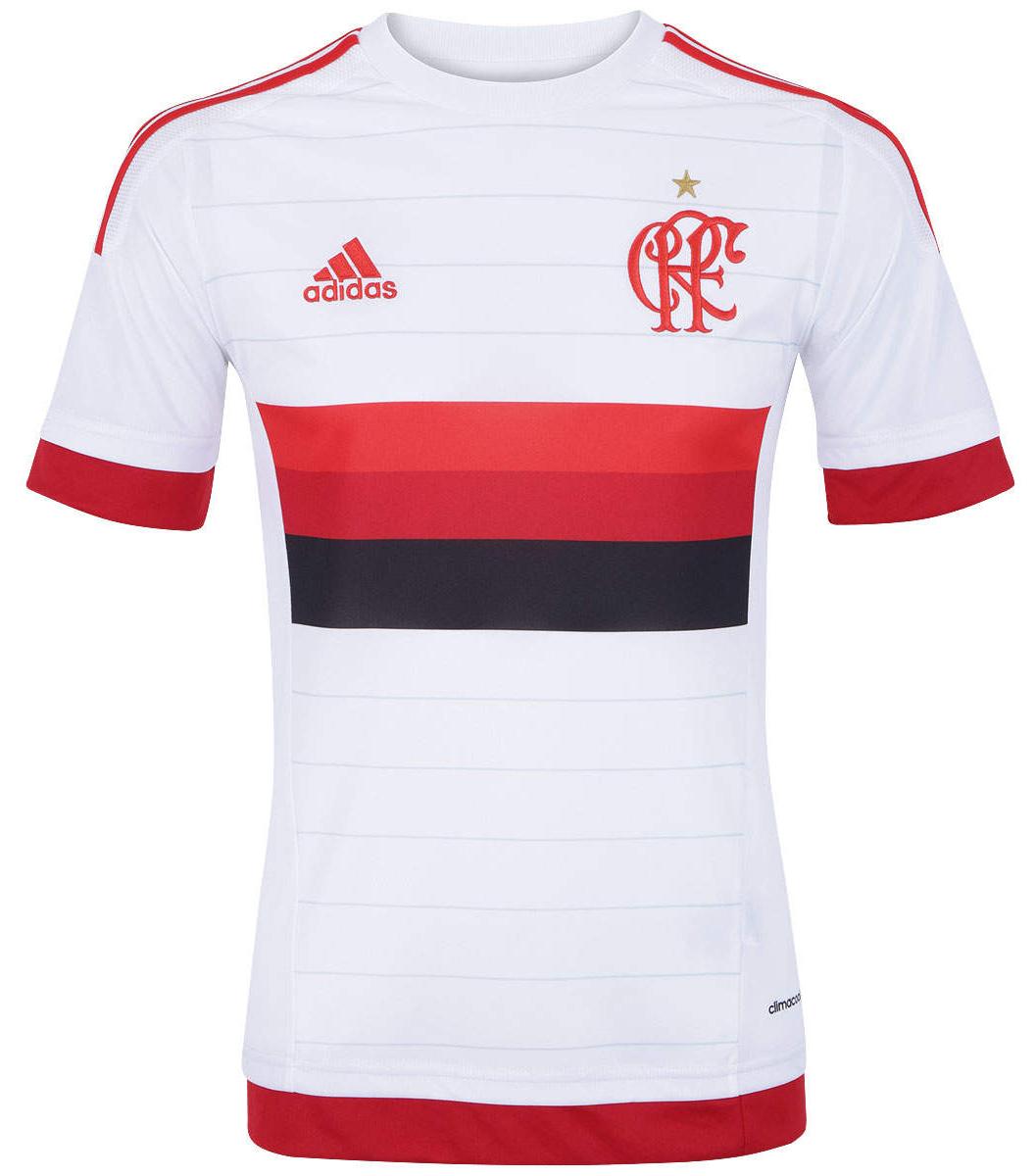 Novo uniforme número dois do Flamengo tem o primeiro escudo do time de  futebol do clube cc230112b9963