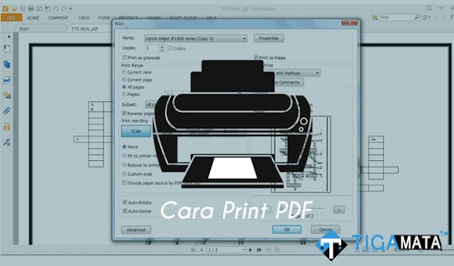 Cara Print Pdf agar Sesuai dengan Ukuran Kertas dan Tidak Terpotong