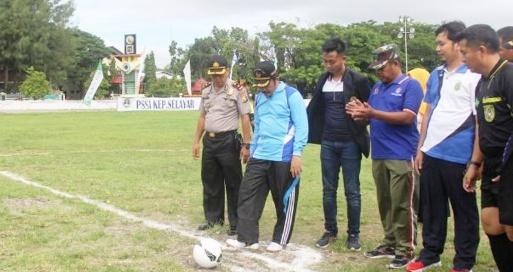 Pertandingan Sepak Bola, Pra Porda Wil. II ,Selayar ,Resmi Dimulai