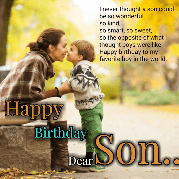 Happy Birthday Wishes My Son - Year of Clean Water