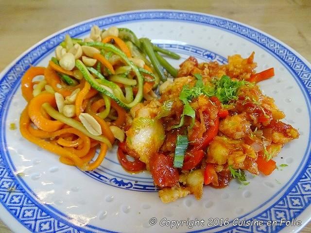 Cuisine En Folie Poisson à La Balinaise Et Wok De Légumes Sautés - Cuisine balinaise