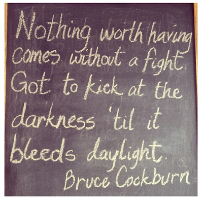 nothing worth having comes without a fight.